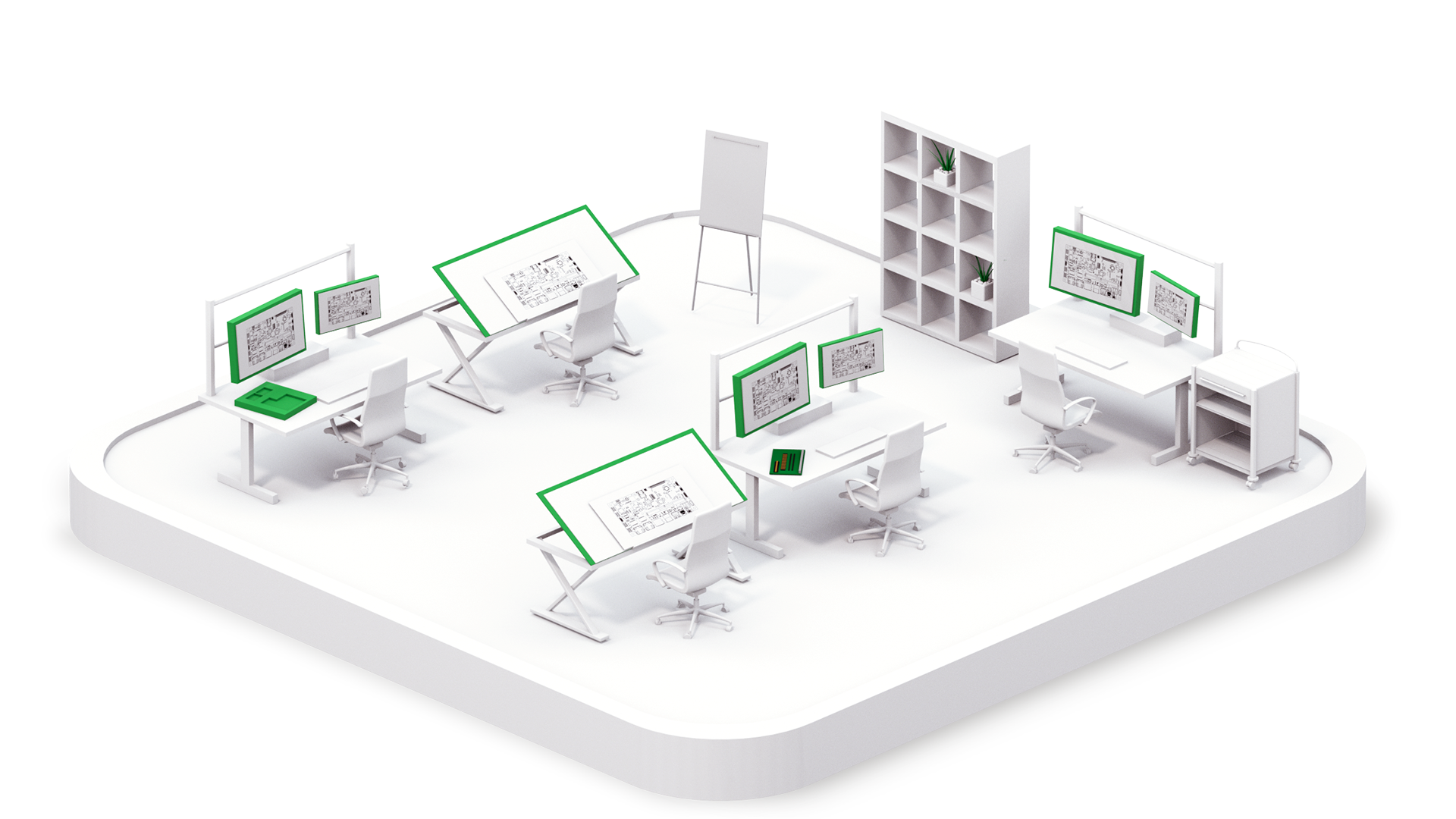 A graphic showing a compute design studio
