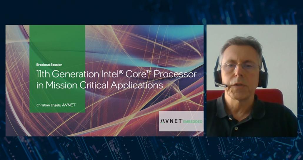 Chris Engels presents the Intel webinar on 11th generation processors